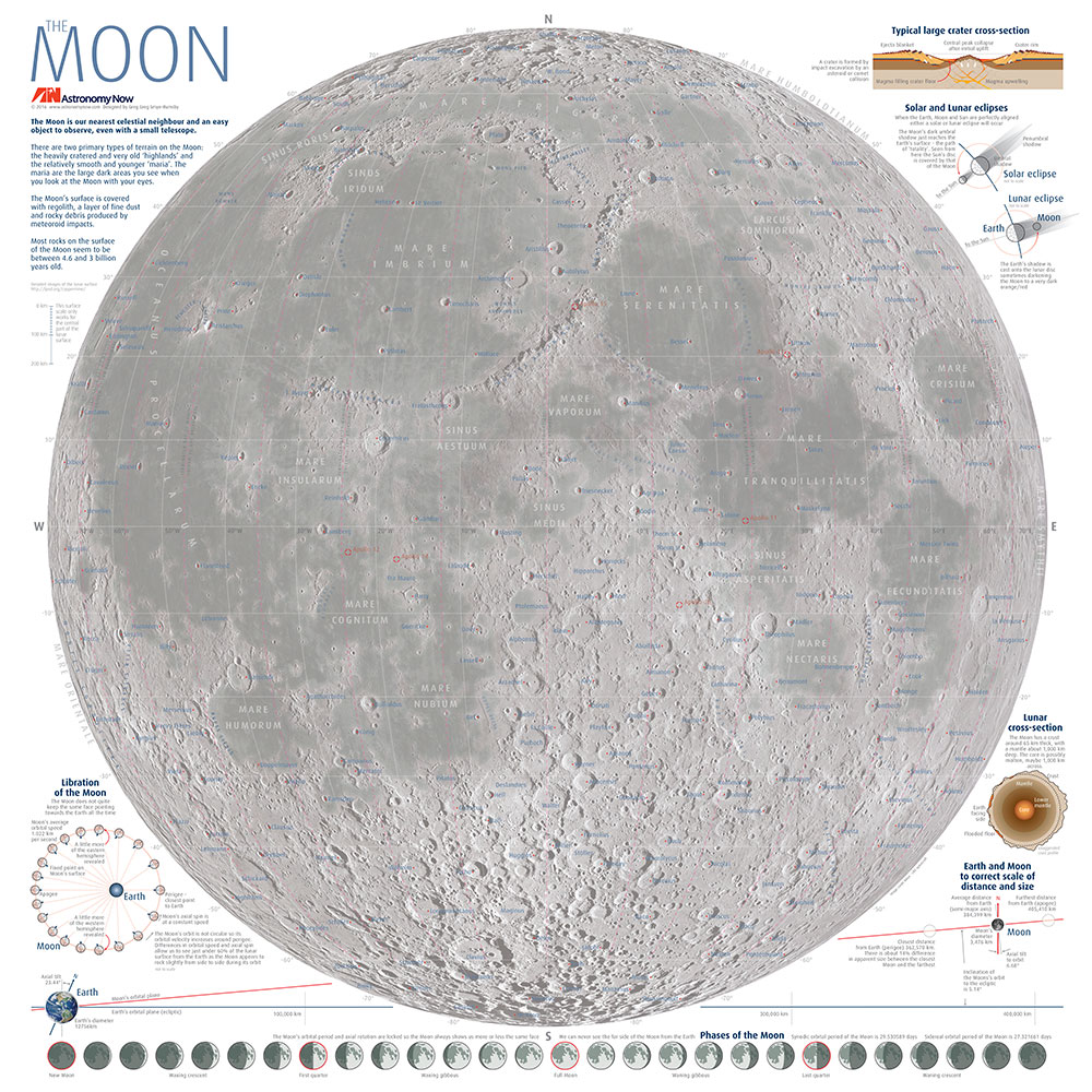 Moon Map Poster | Astronomy Now Shop