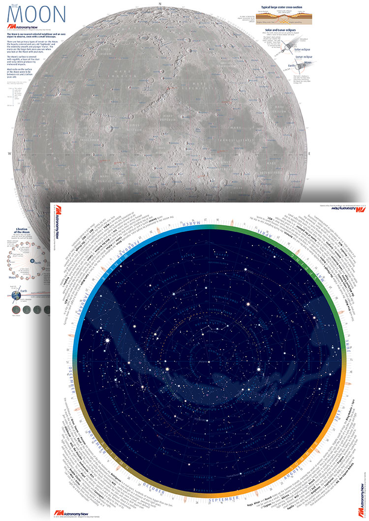 Night Sky Map Poster Astronomy Now Shop - Night sky map now