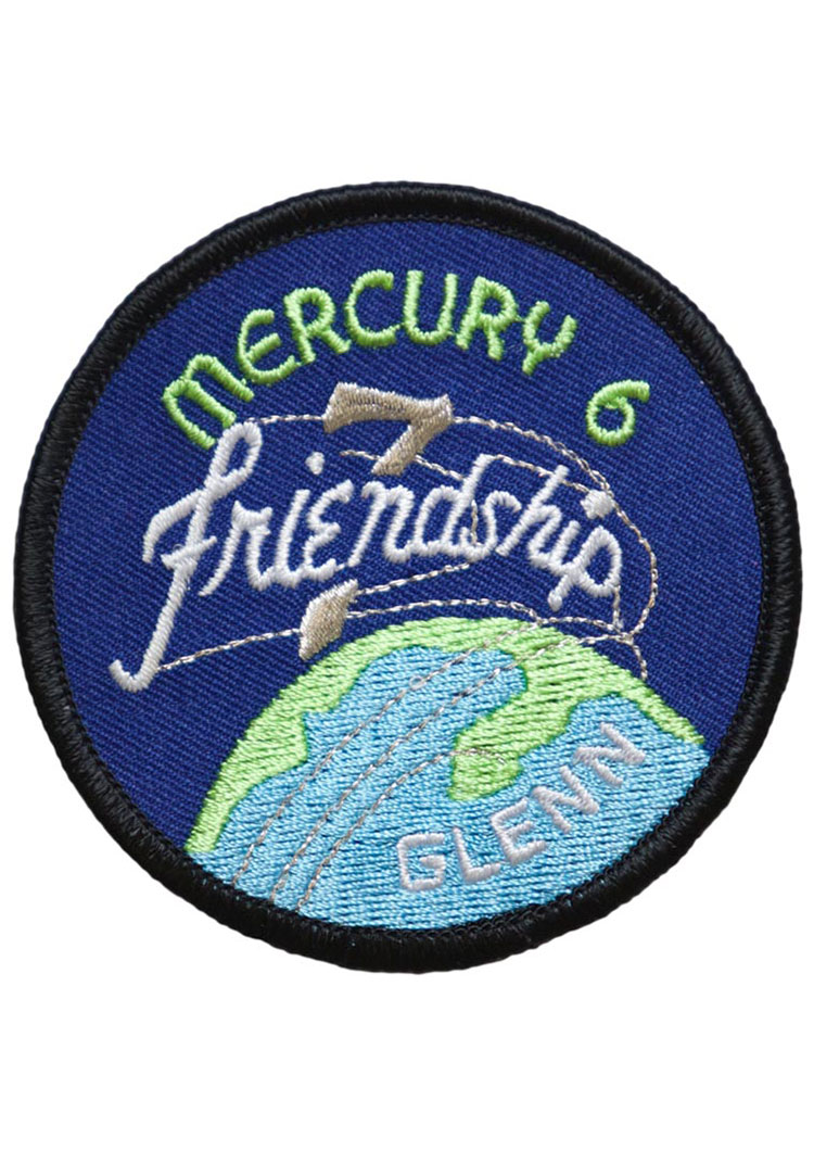 mercury 7 friendship 7 embroidered mission patch astronomy now shop. Black Bedroom Furniture Sets. Home Design Ideas